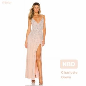 ✨NBD Charlotte Gown in Silver & Nude 🤩✨